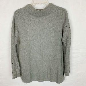 MOTH by ANTHROPOLOGIE Gray Mockneck Sweater M